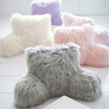 Fur Rific Faux Fur Lounge Around Pillow Cover Teen Throw