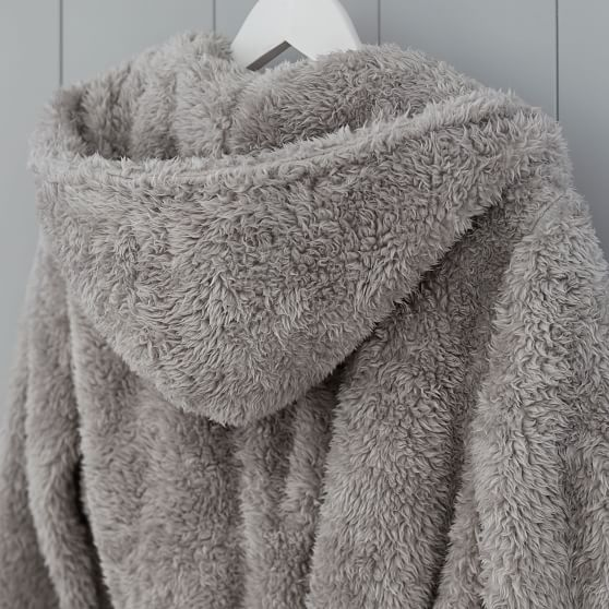 Pottery Barn Teen Cozy Sherpa Robe One Size Blush NEW