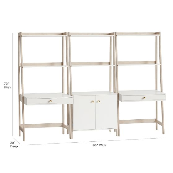 Highland Double Wall Desk & Wide Bookcase Set | Pottery Barn Teen