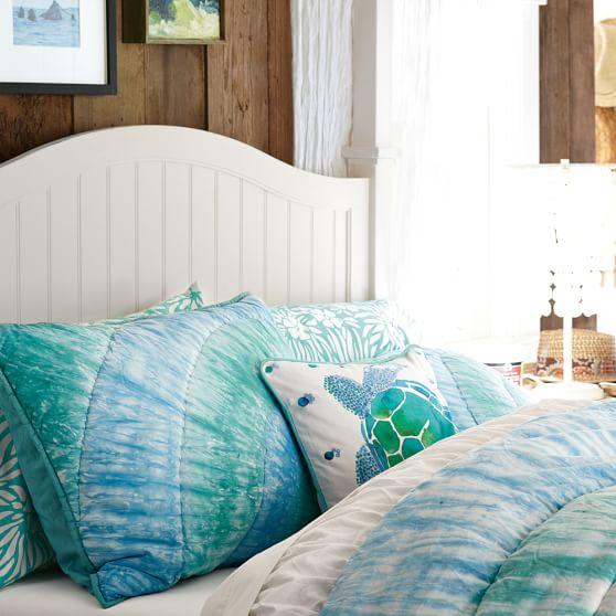 Beachside Watercolor Pillow Cover Pottery Barn Teen