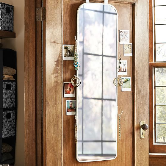 Over The Door Full Mirror Dorm Closet Organizer Pottery Barn Teen
