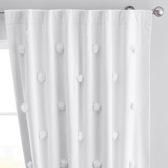 Pom Pom Applique Blackout Curtain Teen Curtains Pottery Barn Teen