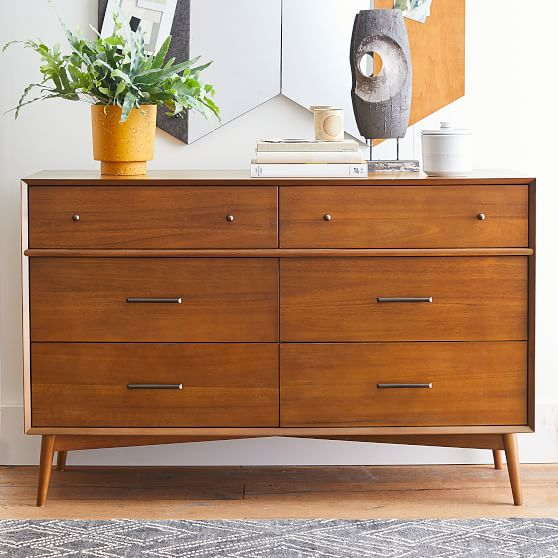 West Elm X Pbt Mid Century 6 Drawer Dresser Pottery Barn Teen