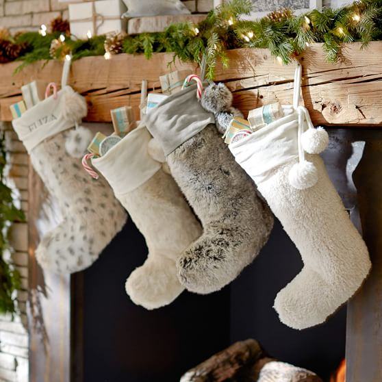 Faux Fur Christmas Stockings Pottery Barn Teen