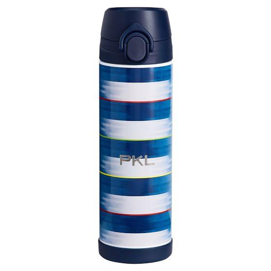 Motion Blur Navy 17 Oz Water Bottle Pottery Barn Teen