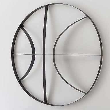 Metal Basketball Wall Decor Wall Decor Pottery Barn Teen