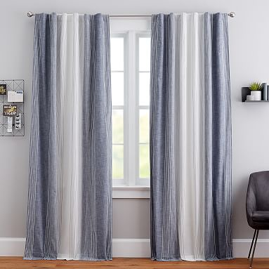 Ombre Stripe Blackout Curtain