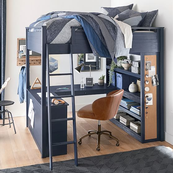 Sleep Study Loft Bed Pottery Barn Teen