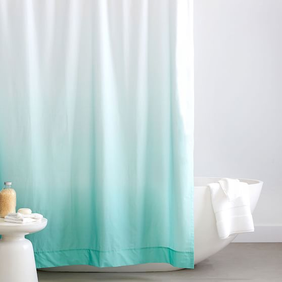 Organic Cotton Ombre Shower Curtain Pottery Barn Teen