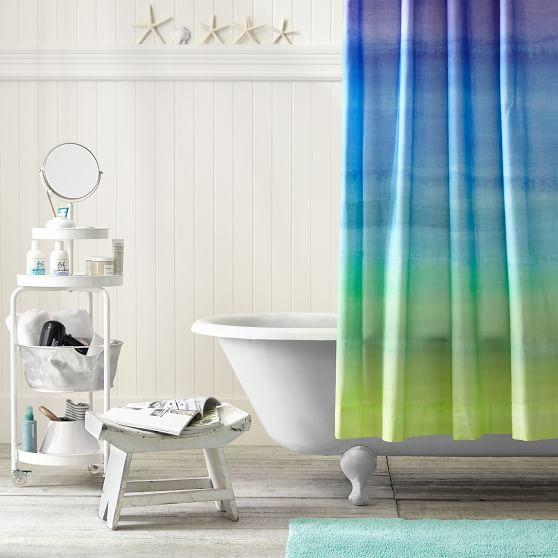 Watercolor Rainbow Teen Shower Curtain Pottery Barn