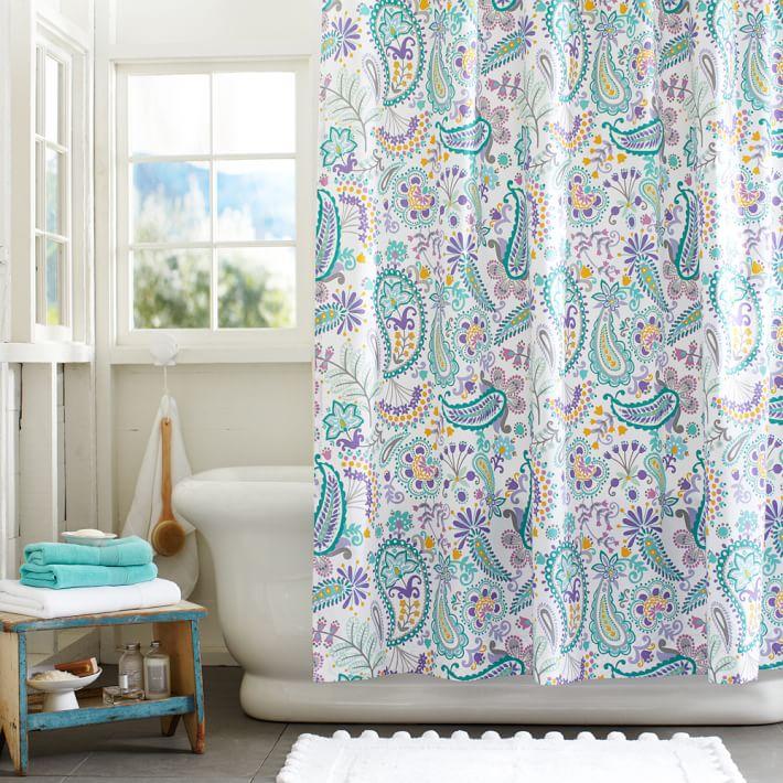 Swirly Paisley Teen Shower Curtain Pottery Barn