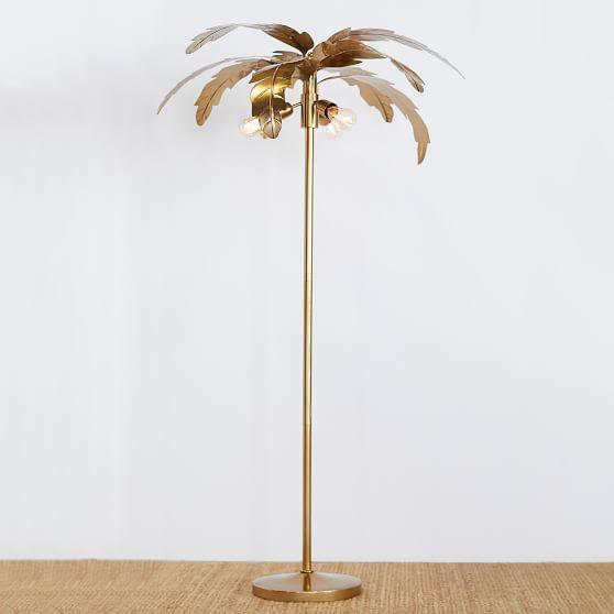 The Emily Meritt Palm Teen Floor Lamp, Pretty Floor Lamps