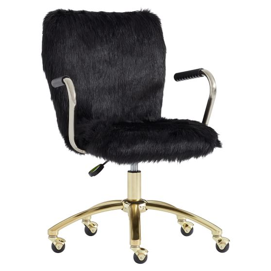 Fuzzy Office Chairs Off 74, Black Desk Chairs