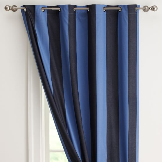 Rugby Stripe Blackout Curtain Teen, Rugby Stripe Curtains