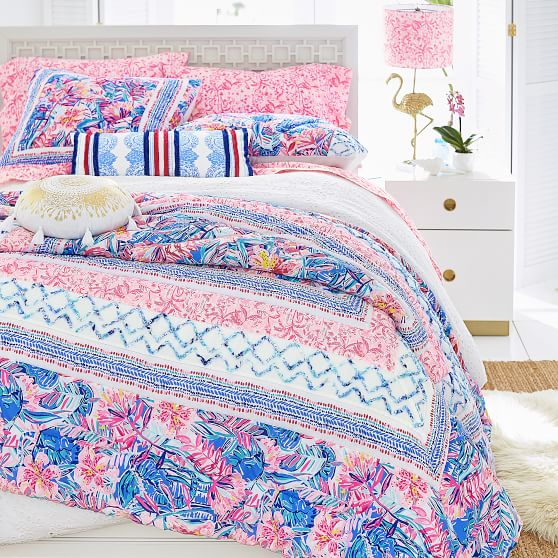 Lilly Pulitzer Patchwork Girls Quilt Pottery Barn Teen