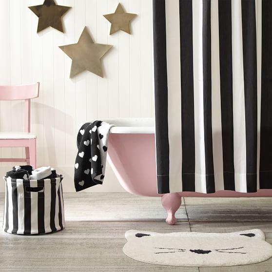 The Emily Meritt Awning Stripe Teen Shower Curtain Pottery Barn