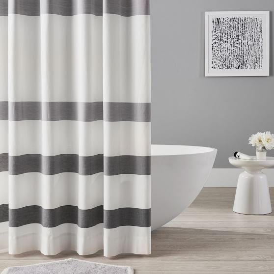 Organic Huntington Stripe Teen Shower Curtain Pottery Barn