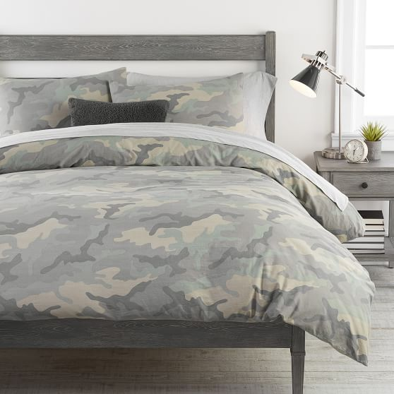 Camo Organic Duvet Cover Sham, Teen Camo Bedding